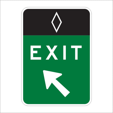 E8-4 HOV EXIT (ARROW SYMBOL) SIGN