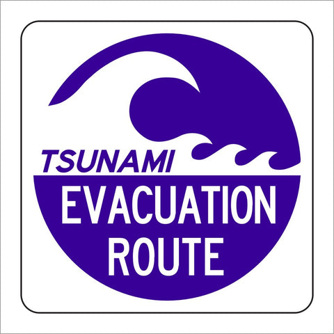 EM-1A TSUNAMI EVACUATION ROUTE SIGN