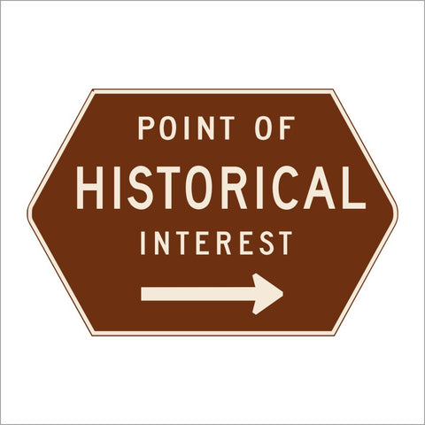 G15 POINT OF HISTORICAL INTEREST SIGN