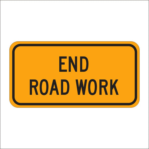 G20-2 END ROAD WORK SIGN