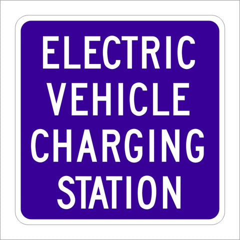 G66-21 (CA) ELECTRIC VEHICLE CHARGING STATION SIGN