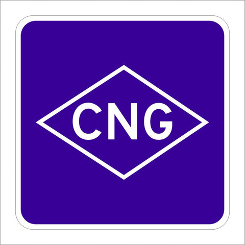 G66-22A (CA) COMPRESSED NATURAL GAS SIGN