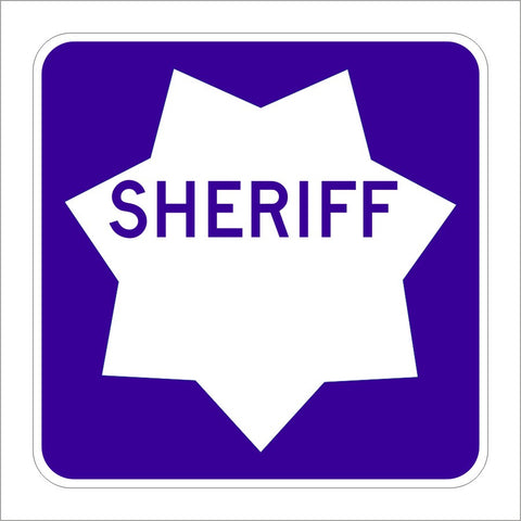 G66-61 (CA) SHERIFF SIGN