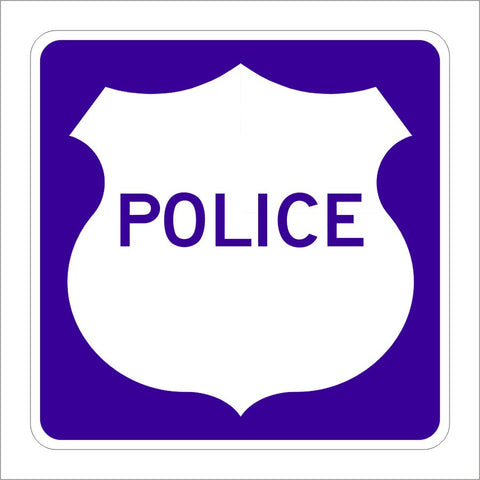 G66-62 (CA) POLICE SIGN