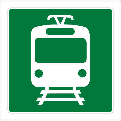 G96 (CA) LIGHT RAIL STATION (SYMBOL) SIGN
