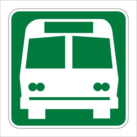 I-6 BUS STATION SYMBOL SIGN