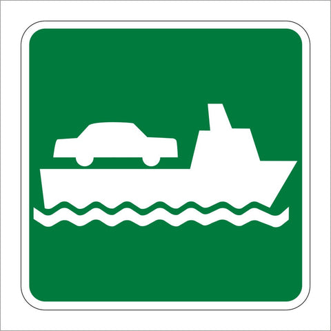 I-9 VEHICLE FERRY TERMINAL SYMBOL SIGN