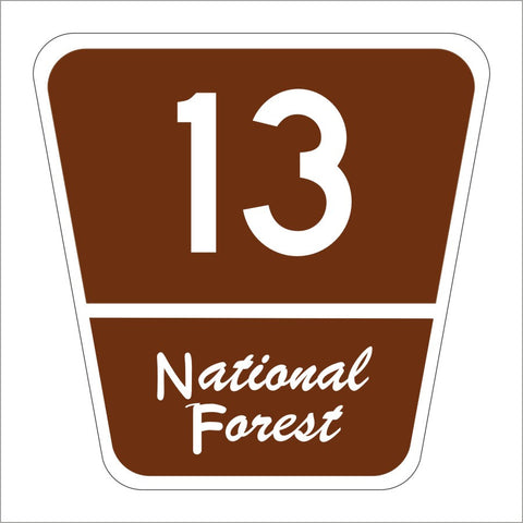 M1-7 NATIONAL FOREST ROUTE SIGN