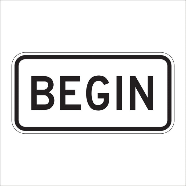 M4-14 BEGIN AUXILIARY SIGN
