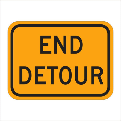 M4-8A END DETOUR SIGN