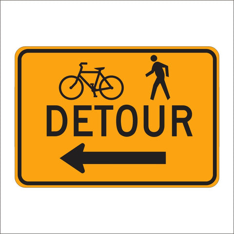 M4-9A BICYCLE AND PEDESTRAIN DETOUR SIGN