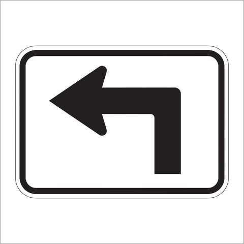 M5-1 ADVANCE TURN ARROW AUXILIARY (90 DEGREE) SIGN