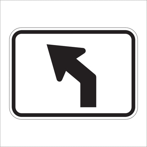 M5-2 ADVANCE TURN ARROW AUXILIARY (45 DEGREE) SIGN