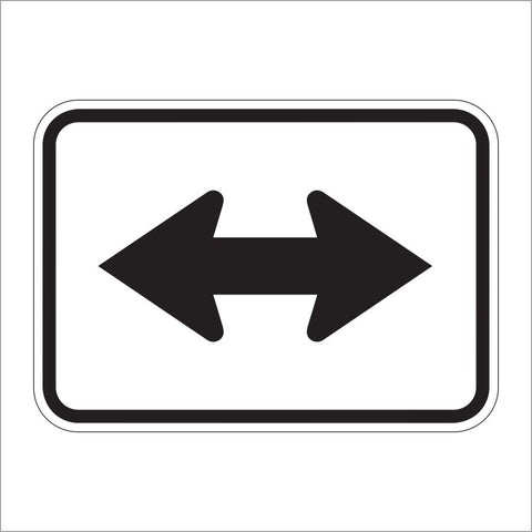 M6-4 DOUBLE ARROW AUXILIARY SIGN