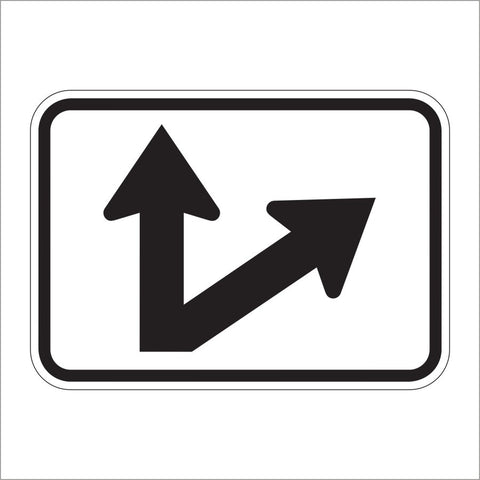 M6-7 DIAGNOL/STRAIGHT ARROW AUXILIARY SIGN