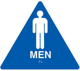 "12"" Mens Restroom Door Sign"