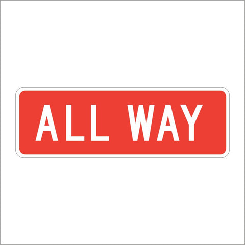 R1-3P ALL WAY SIGN