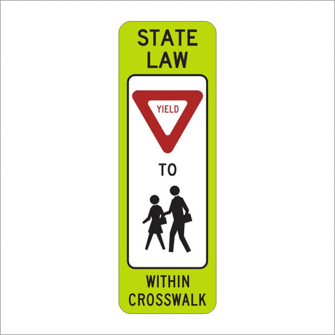 R1-6B IN STREET PEDS CROSSING SIGN