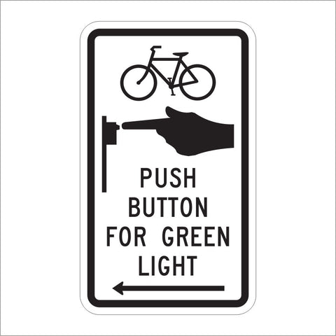 R10-26 PUSH BUTTON FOR GREEN LIGHT SIGN