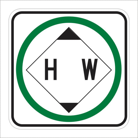 R103 (CA) HAZARDOUS WASTE PERMITTED SIGN