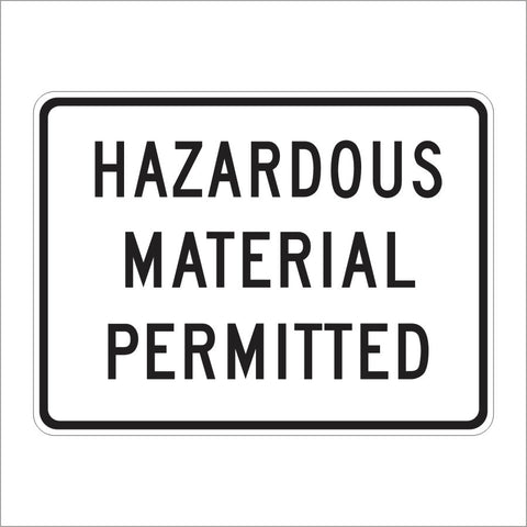 R105A (CA) HAZARDOUS MATERIAL PERMITTED SIGN