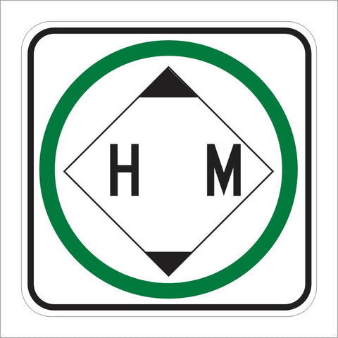 R105 (CA) HAZARDOUS MATERIAL PERMITTED (SYMBOL) SIGN