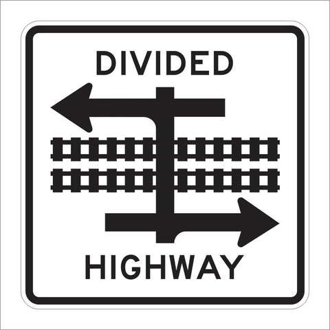 R15-7 DIVIDED HIGHWAY SIGN