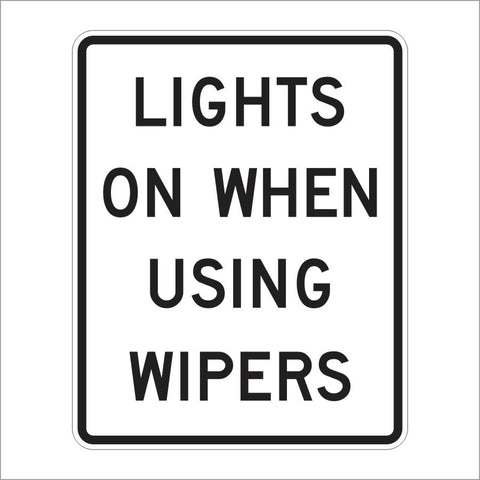 R16-5 LIGHTS ON WHEN USING WIPERS SIGN
