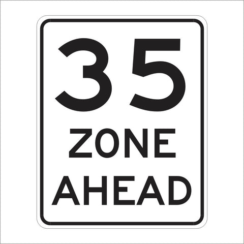 R2-4 (CA) SPEED ZONE AHEAD SIGN