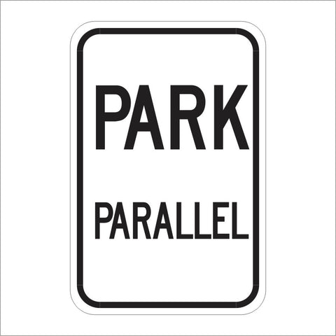 R24 (CA) PARK PARALLEL SIGN