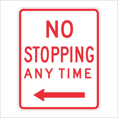 R28A(S) (CA) NO STOPPING ANYTIME SIGN