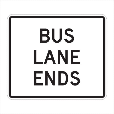 R3-15E BUS LANE ENDS SIGN