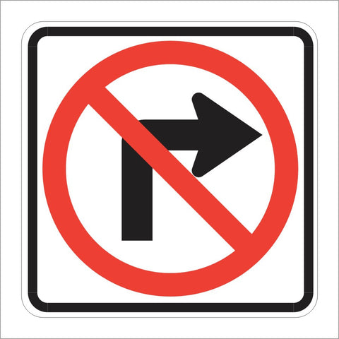 R3-1 NO RIGHT TURN SIGN