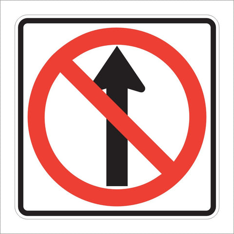R3-27 NO STRAIGHT THROUGH SIGN
