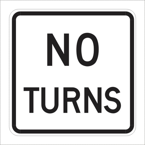 R3-3 NO TURNS SIGN