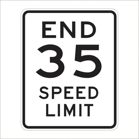 R3-CA END 35 SPEED LIMIT SIGN