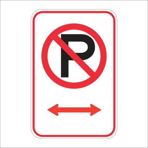 R30E (CA) NO PARKING (ARROW SYMBOL) SIGN