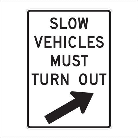 R4-14 SLOW VEHICLES MUST TURN OUT SIGN