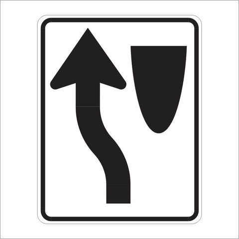 R4-8 KEEP LEFT (SYMBOL) SIGN