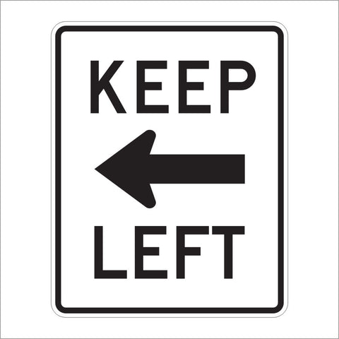R4-8A KEEP LEFT SIGN