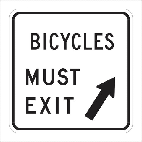 R44C (CA) BICYCLES MUST EXIT SIGN