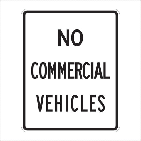 R5-4 NO COMMERICLA VEHICLES SIGN
