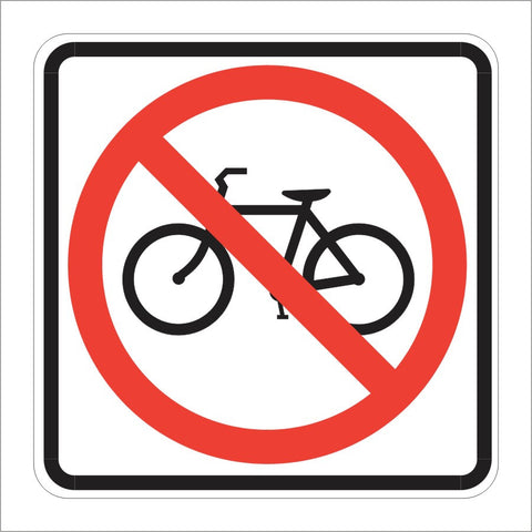 R5-6 NO BICYCLES SIGN