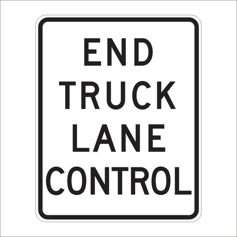 R53E (CA) END TRUCK LANE CONTROL SIGN