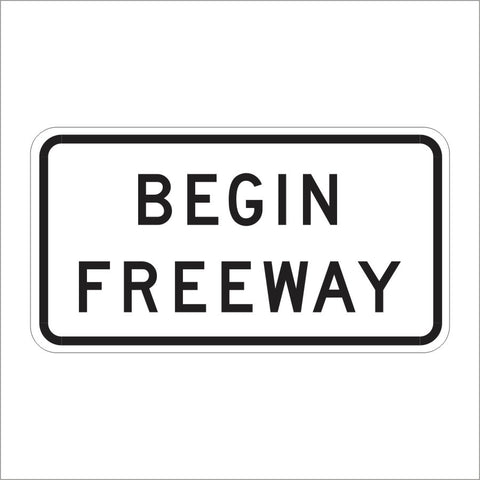 R57 (CA) BEGIN FREEWAY SIGN
