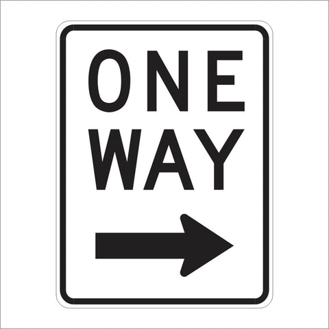 R6-2 ONE WAY SIGN