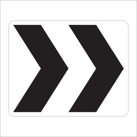 R6-4 ROUNDABOUT DIRECTONAL (2CHEVRONS) SIGN