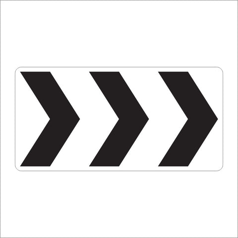 R6-4A ROUNDABOUT DIRECTIONAL 3 CHEVRONS SIGN