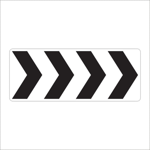 R6-4B ROUNDABOUT DIRECTIONAL 4 CHEVRONS SIGN
