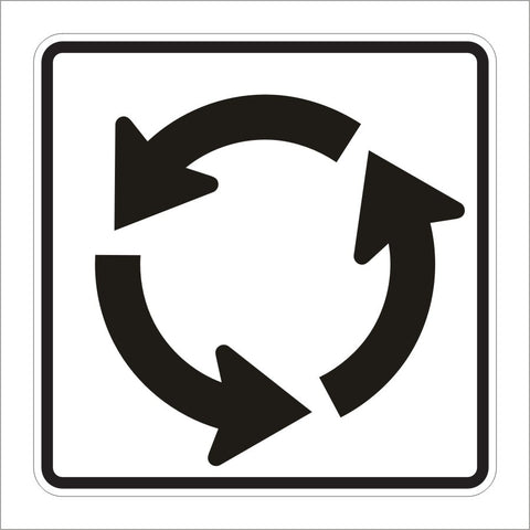 R6-5P ROUNDABOUT CIRCULATION SIGN